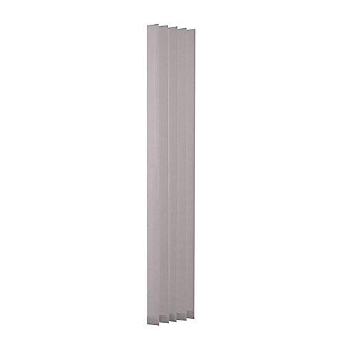 Ventanara 19 Lamellen einzeln grau 89mm Ersatzlamellen für Lamellenvorhang Vertikaljalousie 250 cm