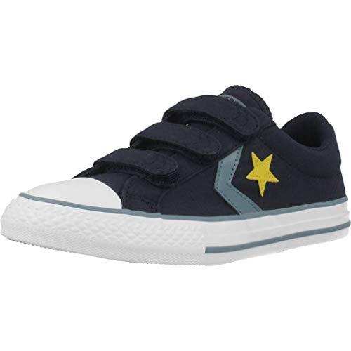 Converse Chuck Taylor all Star, Scarpe da Ginnastica Basse Unisex-Bambini, Blu (Obsidian/Celestial Teal 000), 35 EU