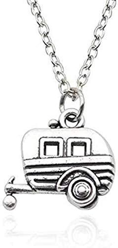 ZQMC Collar Trendy Horse Car Collar Collares y Colgantes Aleación Color Plateado para Mujeres Best Friend Forever Party Gift Hiphop