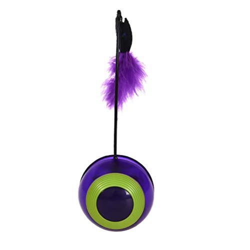 POPETPOP Katzentrommel-Spielzeug-elektrisches Licht-Kätzchen-Bälle wechselwirkender Hund spielt Purpur