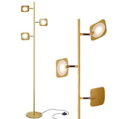 Brightech Tree LED Floor Lamp - Classic Adjustable 3 Light Floor Lamp with 3-Step Dimmable Touch Switch - Advanced LED Technology featuring 23 Energy Efficient Watts with 1900 Lumens