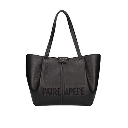 PATRIZIA PEPE Shopping Bag con Logo Nero