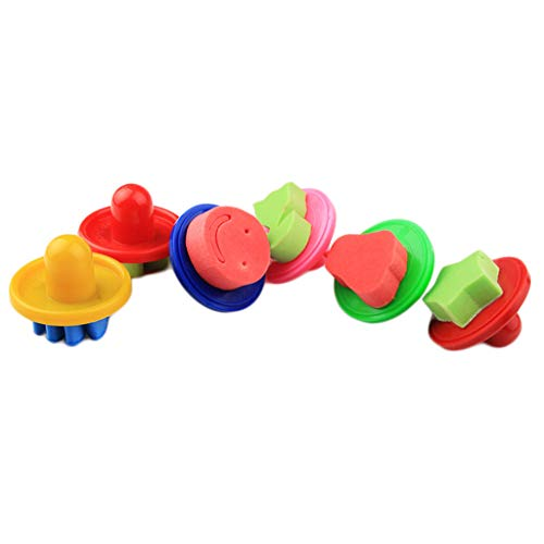 FLAWISH 6 Pieces Cartoon Sponge Painting Stamps Seal for Children Art Tool Supplies