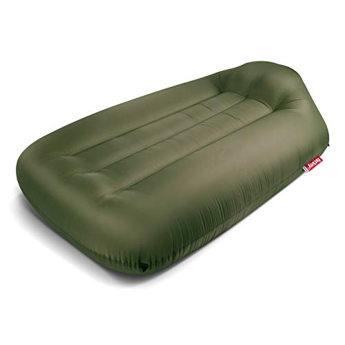 Fatboy Lamzac L, Portable Inflatable Air Lounger Bed with Carry Case - Olive Green