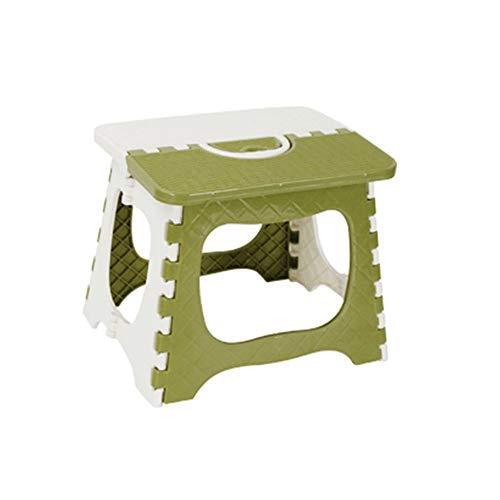 ZR Chaise de Camping Portable Petit Banc Pliant Tabouret en Plastique épais pour Adultes (Couleur : Vert)