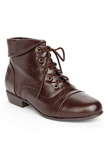 Comfortview Women's Wide Width The Darcy Bootie - 9 W, Brown