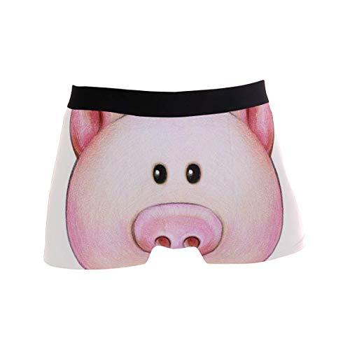 Dydan Tne Herren Boxershorts Polyester Unterwäsche Herren Boxershorts mit Piggy Head Muster Größe L MBF-3127