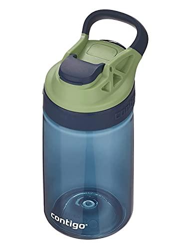 Contigo Gizmo Sip botella infantil libre de BPA, resistente, 100% a prueba de derrames, uso intuitivo con botón, fácil de limpiar, óptimo para guardería, escuela, colegio, deportes, 420 ml