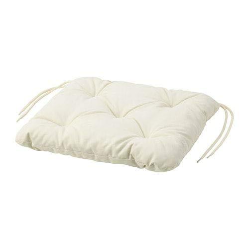 Ikea Kuddarna, cuscino per sedia da esterno, 36 x 32 cm, colore: beige