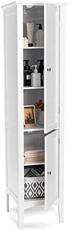Top 10 Best bathroom linen cabinets free standing tall Reviews