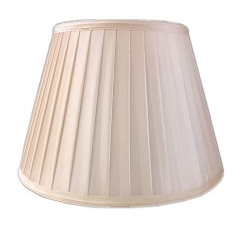 FABDB E27 Lampenschirm für Tischleuchte in Rund Plissee, 100% Reine Hand Lampe Lampenschirm Nachttischlampe Tischlampe Stehlampe Lampenschirm Tuch, Stoff (Spinne. 15CM-45CM),Champagnecolor,15CM×22CM
