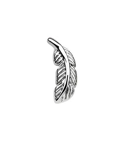 iJewelry2 Piercing de oreja de acero inoxidable en forma de pluma