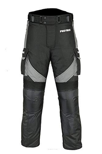 Motorfiets/Motorfiets Big Pocket Waterdicht Verwijderbare Cordura Textiel Broek voor Heren Dames Jongens Grijs Waist 42 - Leg 29 Grijs