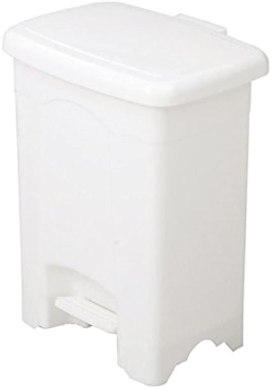 Pemberly Row White 4 Gallon Step-On Plastic Receptacle