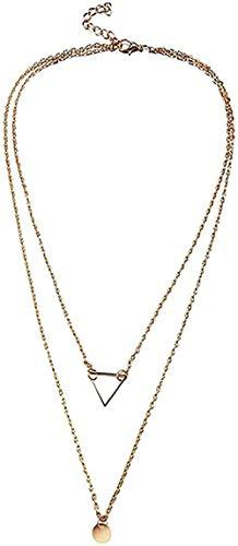 Yiffshunl Collar Collares Collar de Moda Bohemia Collares Multicapa Collar Gargantilla de Cristal para Mujer Joyería Larga