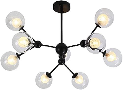 YQCH Lámpara de Sala de Estar Moderna Minimalista Personalidad Creativa Restaurante Comedor Den Dormitorio Lámpara Linterna Nordic Lintelier 9 G9 65cm 45cm