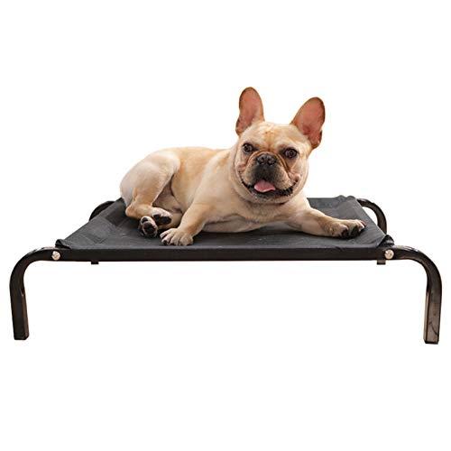 Cama Perros Cama para Mascotas Elevada para Cuna para Mascotas, Sofá de Salón Elevado para Perros/Gatos, Impermeable y Fácil de Limpiar, Cuatro Estaciones Universal, Negro (Size : M 90×60×15cm)
