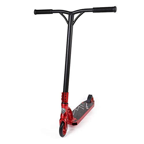Ligero Pro Stunt Scooter con Mango de Goma, Plataforma, empuñadura de Aluminio en Negro, Plegable, sin Montar, Suave y Suave, Scooter de dirección esbelta
