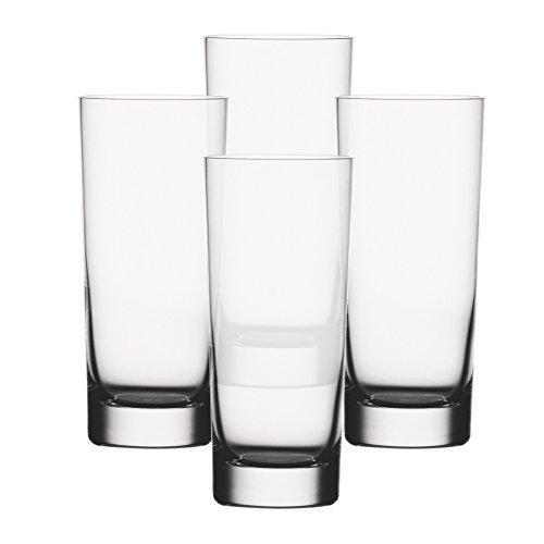 Spiegelau & Nachtmann, 4-teiliges Longdrink-Set, Classic Bar, Kristallglas, 360 ml, 9000172