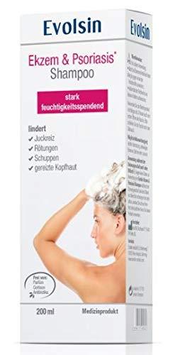 NEU: Evolsin Ekzem & Psoriasis SHAMPOO | Lindert Juckreiz, beruhigt die Kopfhaut | Stark Feuchtigkeitsspendend | Hilft bei trockener, gereizter, juckender, irriterter (Kopf) Haut
