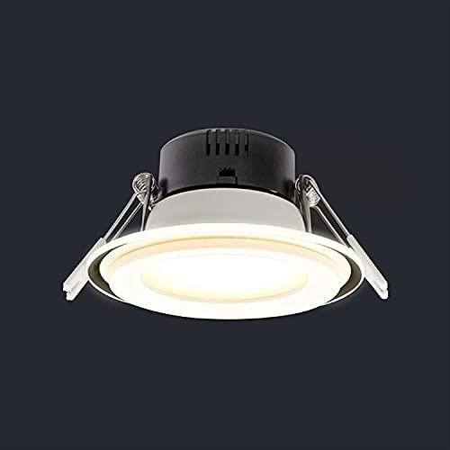 Raelf 5w7w empotrado Downlight ultra delgado panel redondo empotrado luz de techo Spots plana Downlight Spotlight salón pasillo Iluminación accesorio para sala de estar loft pasillo Hallwa