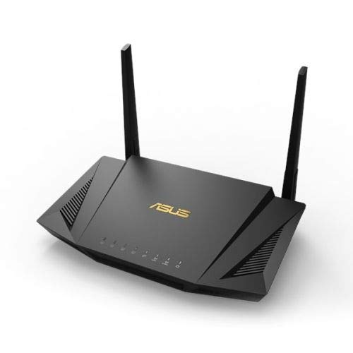 ASUS RT-AX56U Wifi 6 AX1800 Dual-Band Mesh Wifi System Router, OFDMA + MU-MIMO Tech, 1024 QAM, Trend Micro AI Protection Pro, Dual WAN Support, 3G/4G Support (Renewed)