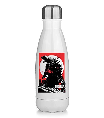 KRISSY Godzilla Monster Japanese Movie Thermos Flask Bottle Water Bottle Stainless Steel Vacuum