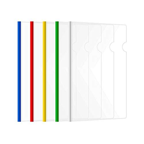 Fengyuanhong 5pcs Bar Schiebetür Transparent File Folder Abdeckung Farbe Zufall Papier- und Schreibwaren