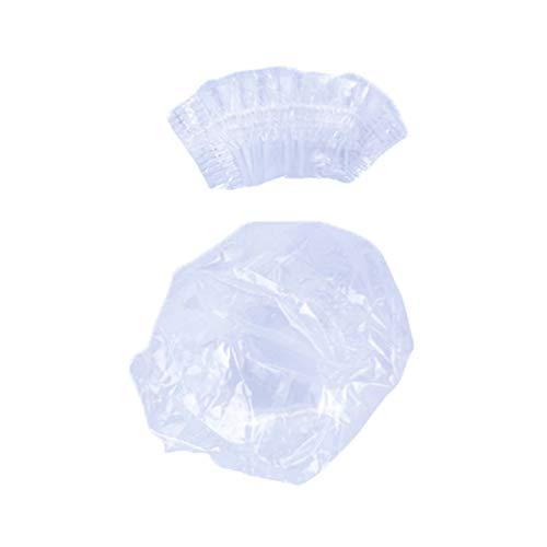 100 unids desechables de plástico a prueba de agua orejeras protección gorro de ducha herramienta de peluquería tinte para el cabello escudo tapa protectora