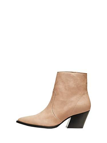 Selected SLFJULIE Leather Boot B, Bottines Femme, Œil de Tigre, 38 EU
