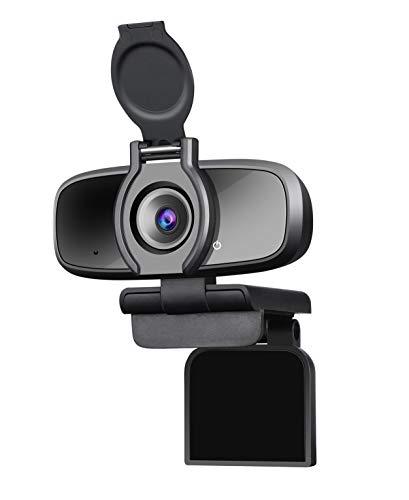 Dericam Cámara web, cámara web Full HD 1080P con micrófono incorporado, cámara de computadora con conexión y reproducción, cámara de PC para PC, Mac y escritorio, videoconferencia, teléfono, juegos