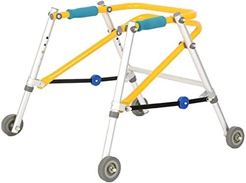 Lightweight PLOTING CHILDERN TODDLER Rollator Walker con 4 ruedas, Ajuste de altura ajustable para niños con discapacidad o parálisis cerebral