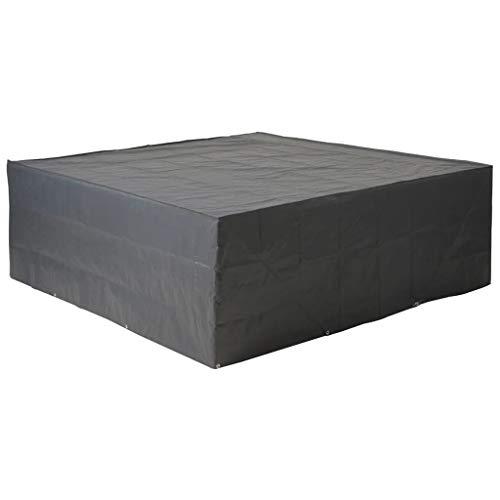 Housse de protection salon bas de jardin 325x205xH70 cm gris/noir GRAPHITE noir