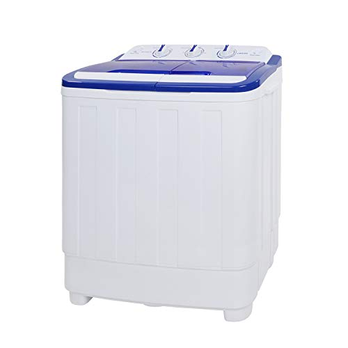 KUPPET Portable Washing Machine, Compact Twin Tub Washer and Spin Dryer Combo for Apartment, Dorms, RVs, Camping, 17lbs