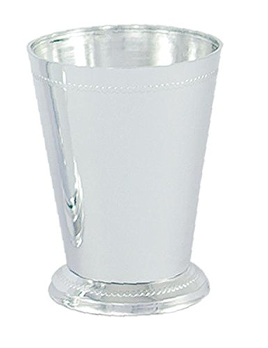 "4 1/2"" Plastic Mint Julep Cup Silver - Sold by box - 36 Per Box"