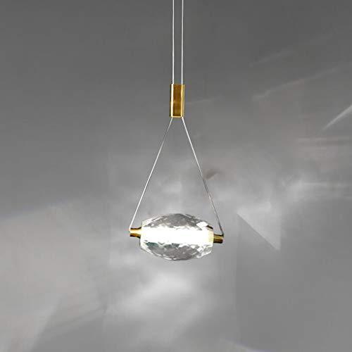 Pointhx Lámpara de techo con diseño nórdico de cristal nórdico LED de 1 luz, todo cobre, lámpara colgante para sala de estar, cocina, isla, iluminación interior