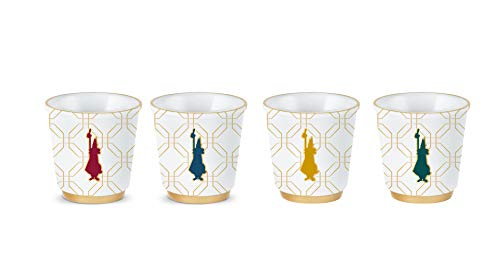 Bialetti Setze Set 4 Gläser, Marocco Collection, Porzellan