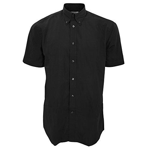 KUSTOM KIT - Camisa de Manga Corta para Trabajar Hombre Caballero (2XL) (Negro)