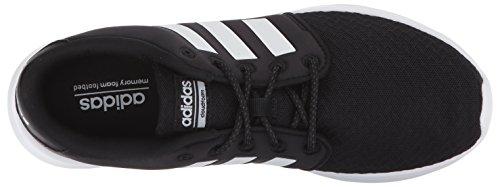 adidas Women's Cloudfoam QT Racer Sneaker, Black/White/Carbon, 9 M US 13