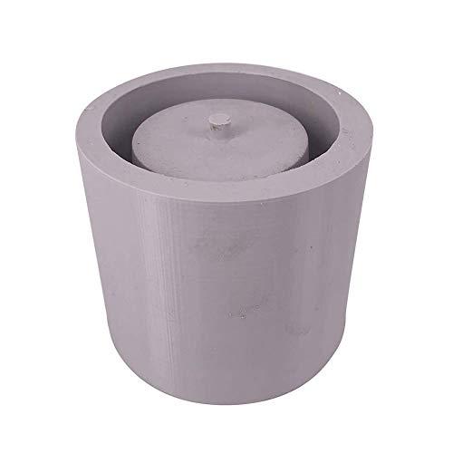 Molde ecosway para jarrones redondos, para yeso, cemento, cerámica, bricolaje para suculentos y flores de jardín, hecho de silicona