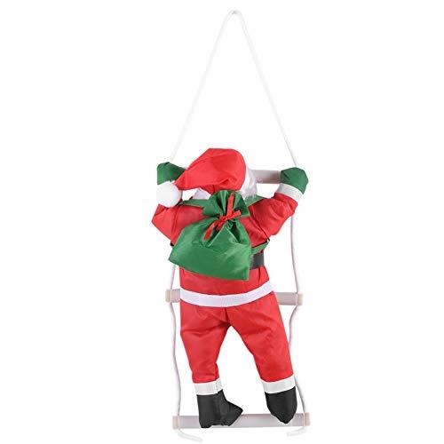 Nikou Kerst Ornament - Kerstman Klimmen Ladder Speelgoed Kerst Boom Decoratie Pluche Pop Speelgoed voor Kerstmis Party Home Deur Wanddecoratie