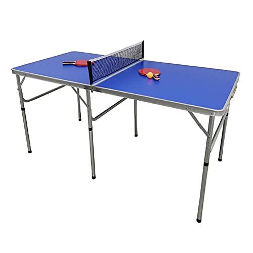 Mesa de ping pong portátil plegable, juego deportivo con red, marco de aleación de aluminio, diseño estable, con muy buenas propiedades de salto de la pelota.