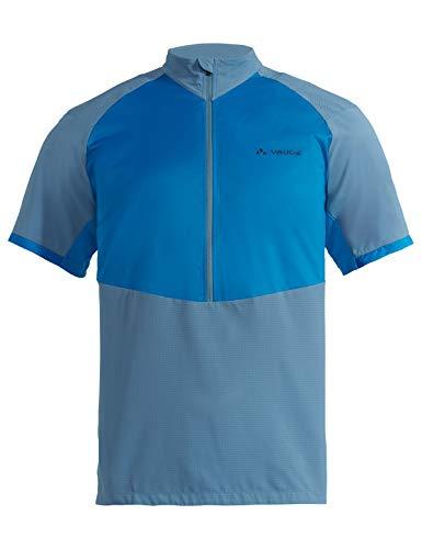 VAUDE Men's eMoab Shirt Maillot très Fonctionnel pour Le VTT électrique Homme, Radiate Blue, FR : S (Taille Fabricant : S)