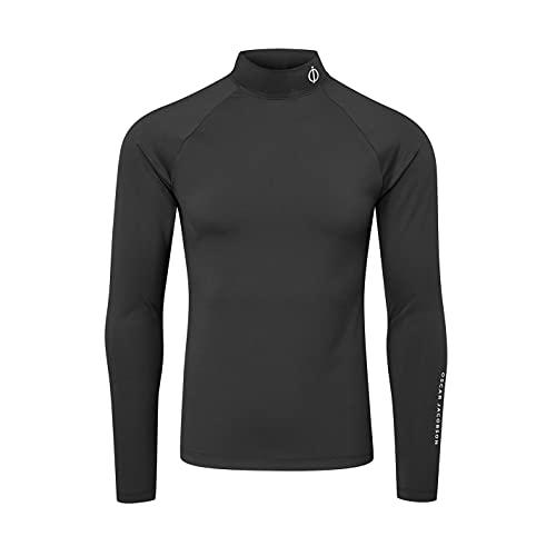 Oscar Jacobson Hombre Camiseta De Golf Capa Base Compreción Negro L