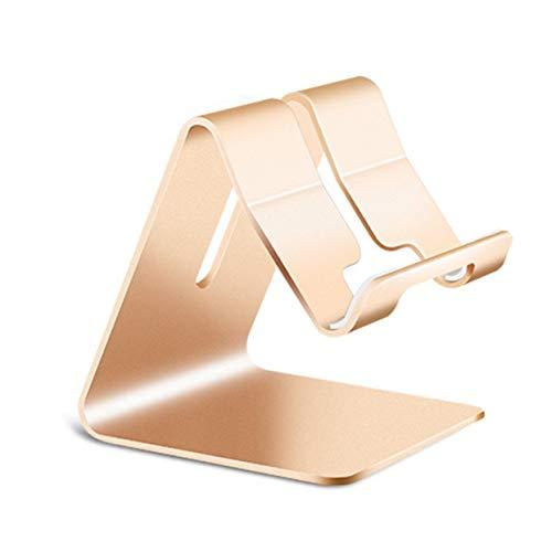 Shenykan Soporte Universal para teléfono de aleación de Aluminio Soporte de Montaje en Escritorio Soporte Antideslizante para teléfono móvil para Tableta Soporte de Soporte para teléfono - Dorado