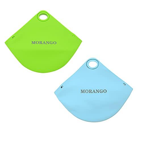 Caja de almacenamiento para mascarillas, Funda portamascarillas, Estuche de silicona antipolvo y humedad, Bolsa de viaje portable (Verde/Azul)