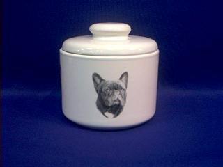 French Bulldog Treat Jar Small Porcelain