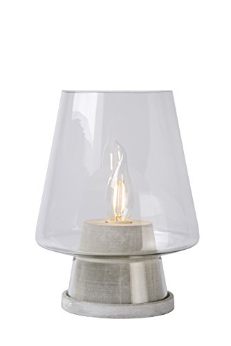 Lucide GLENN - Lampe De Table - Ø 19 cm - Gris