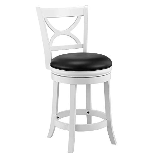 Ball & Cast Bar Height Swivel Stool, 24-Inch,1-Pack, White