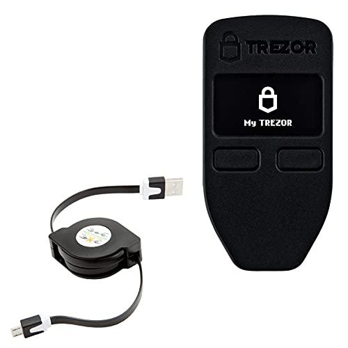 Trezor One Cable, BoxWave [miniSync] retrátil, cabo de sincronização portátil para Trezor One | Modelo T